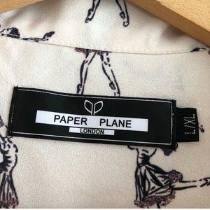 Anthropologie Tops - Anthropologie- Paper Plane ballerina top